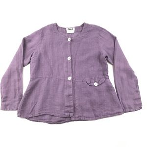 Flax Linen Button Up Blouse S
